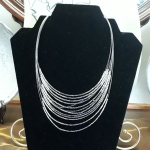 Chico's bead wire strands necklace
